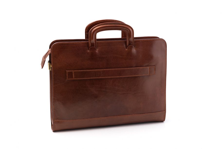 Leather business bag for trolley