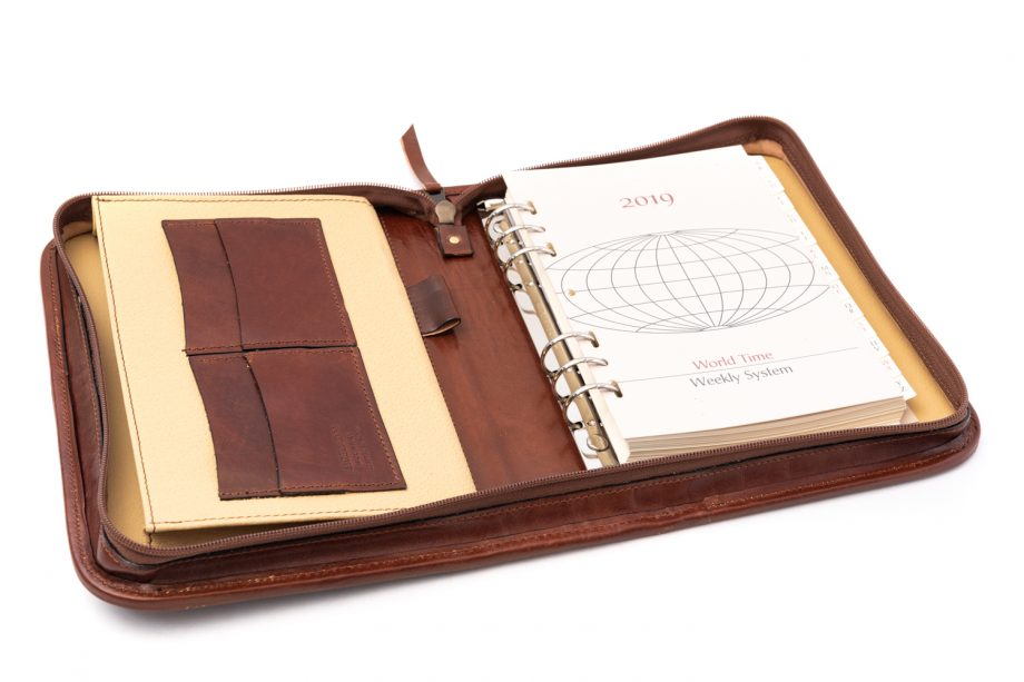 Leather agenda cover
