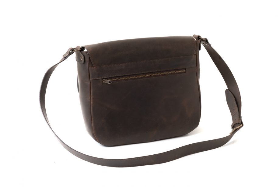 Leather laptop bag without handle