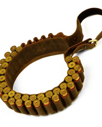 Leather cartridge belt for 50 bullets caliber 12