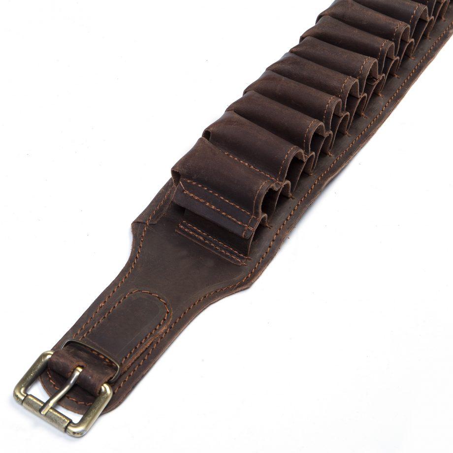 Leather cartridge belt for 50 bullets caliber 12