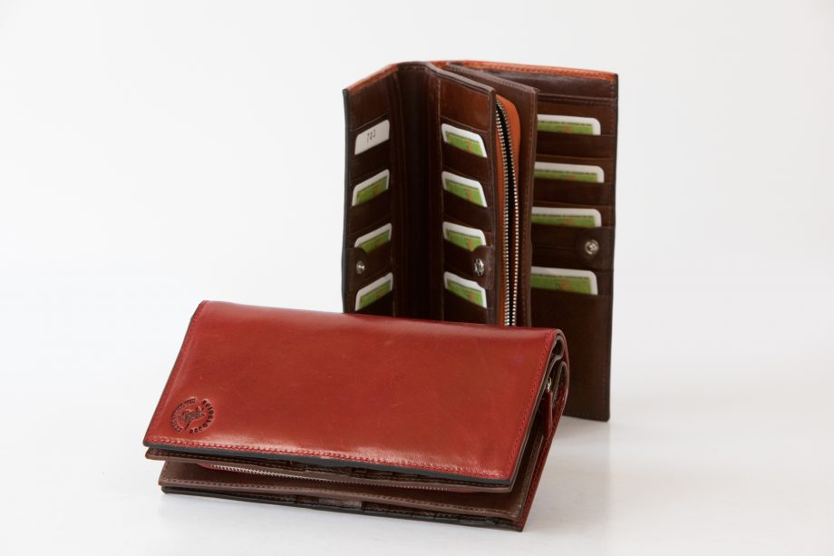 Leather lady wallet big