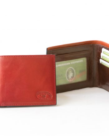 Leather man wallet with card window