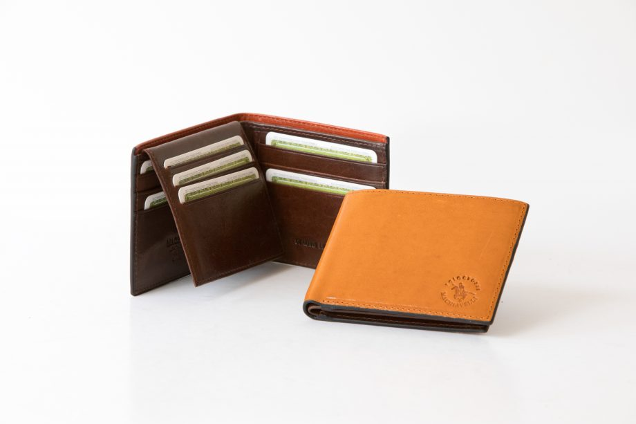 Big leather man wallet with flap