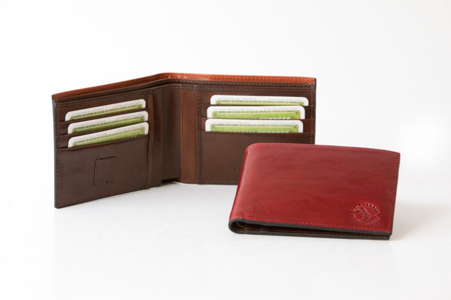 Big leather man wallet without flap