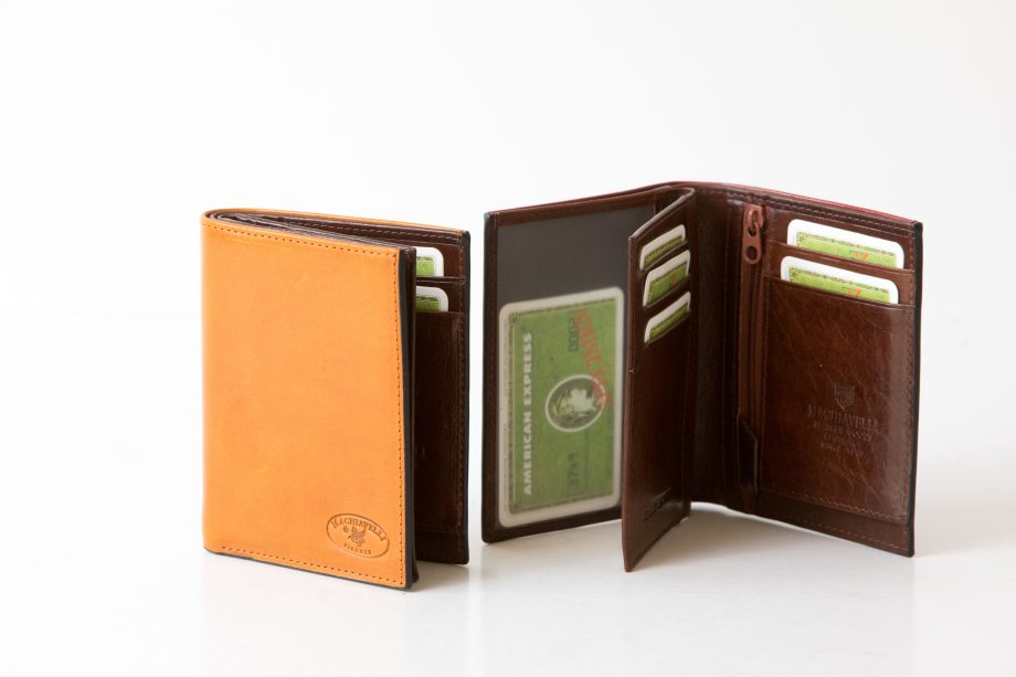 Leather man wallet for jacket