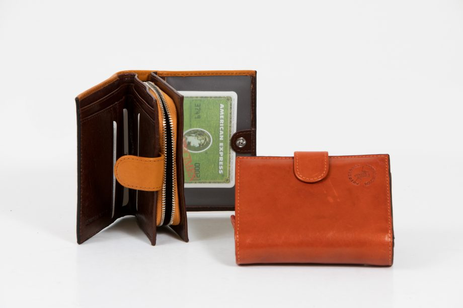 Leather lady wallet for bag