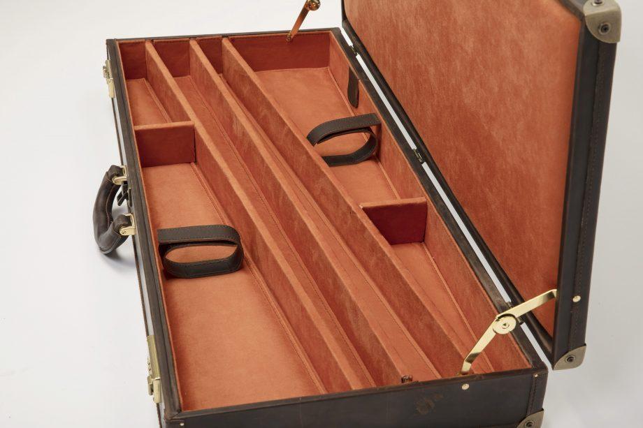 Leather rigid double gun slip